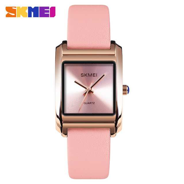 Jam Tangan Wanita SKMEI Analog Casual Leather Watch Original 1432CL Pink