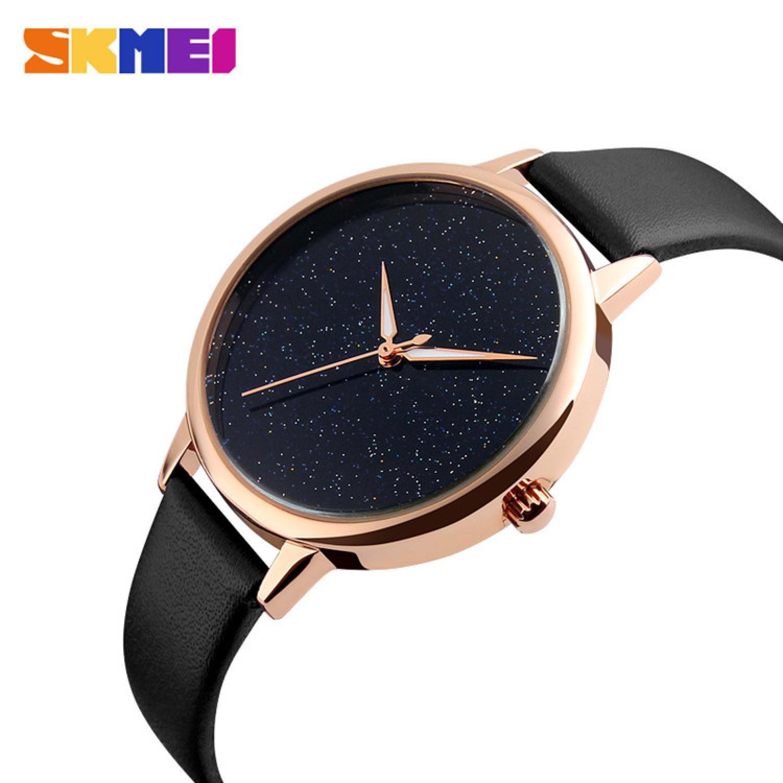 Jam Tangan Wanita SKMEI Analog Casual Leather Watch Original 9141CL Hitam