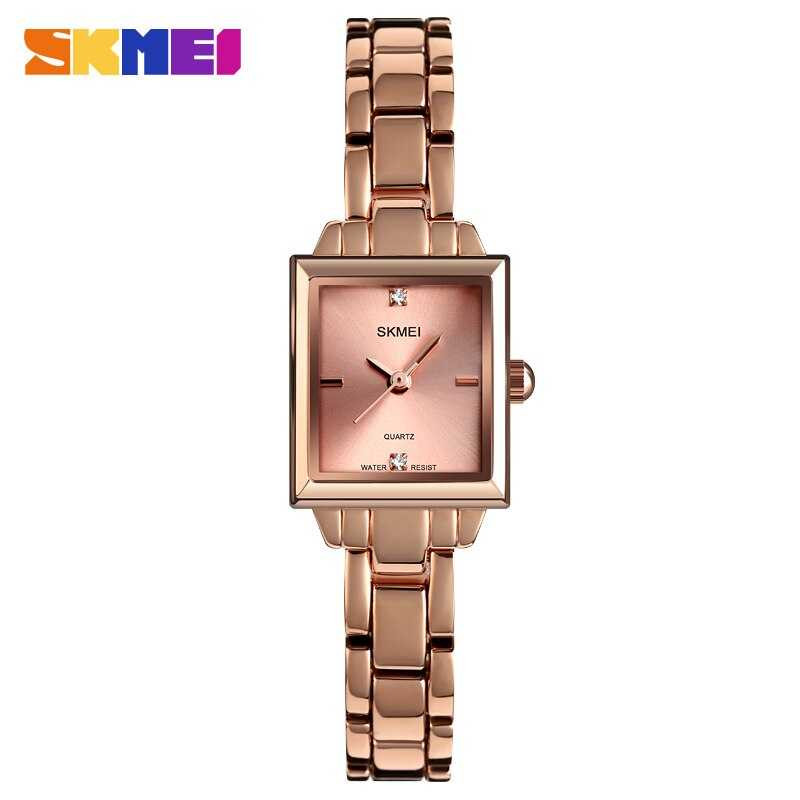 Jam Tangan Wanita SKMEI Casio Women Fashion Original 1407CS Rose