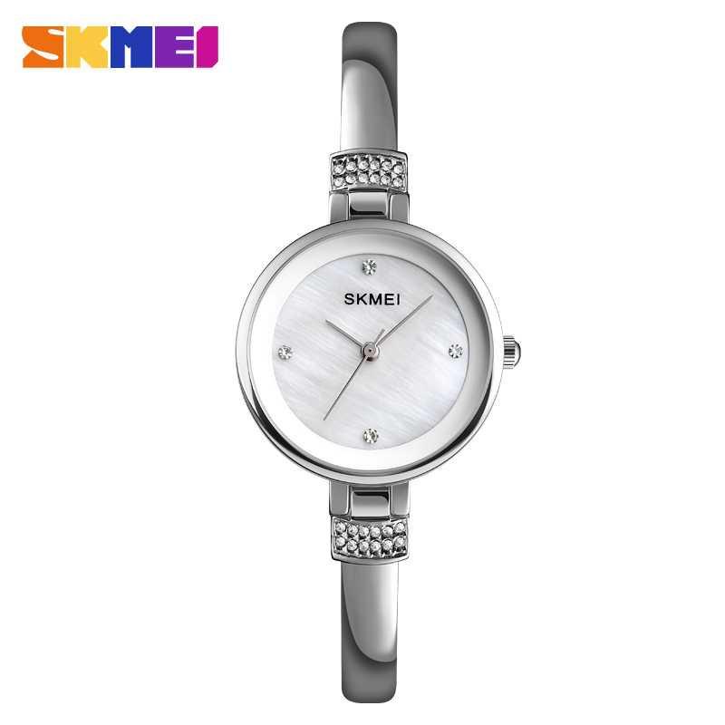 Jam Tangan Wanita SKMEI Casio Women Fashion Original 1409CS Silver