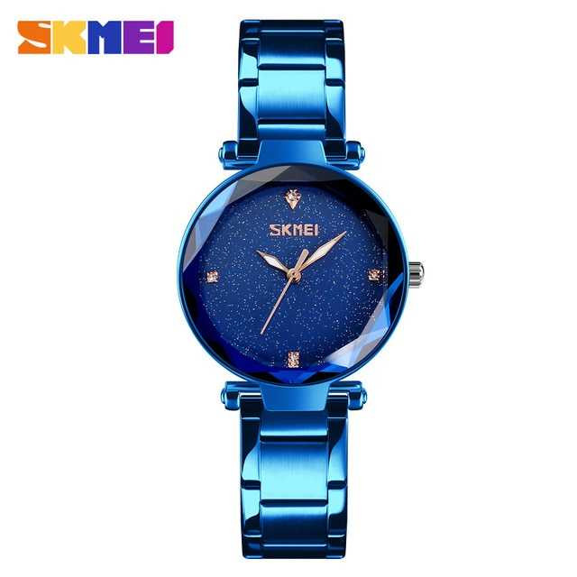 Jam Tangan Wanita SKMEI Casio Women Fashion Original 9180CS Biru