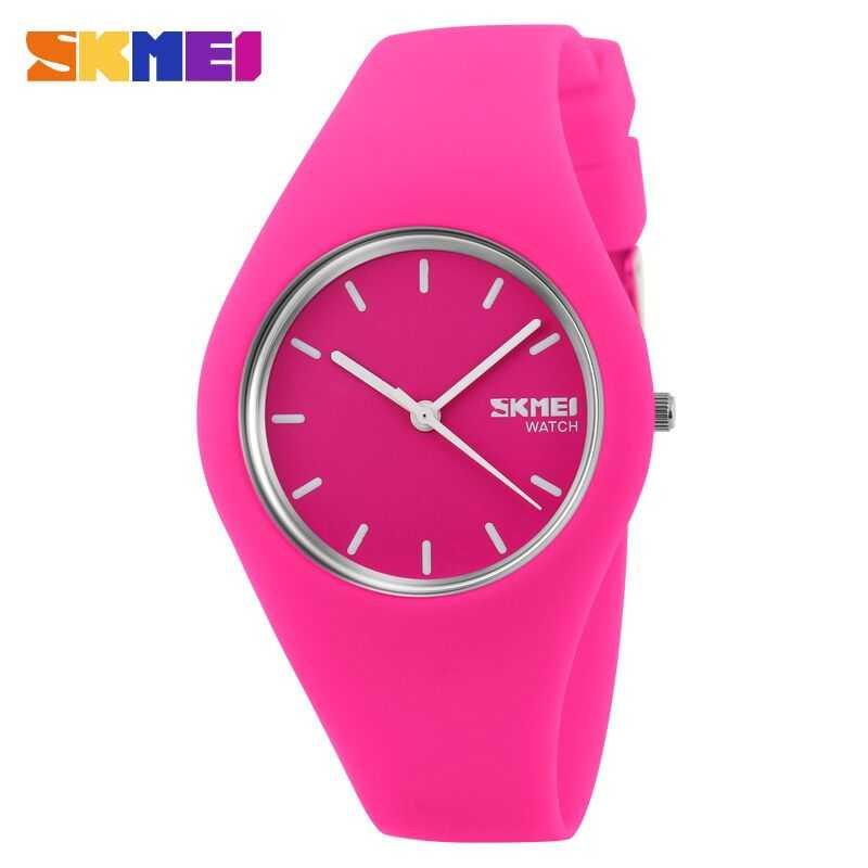 Jam Tangan Wanita SKMEI Casio Women Sport LED Original 9068C Pink