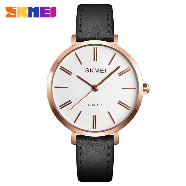 Jam Tangan Wanita SKMEI Casual Ladies Leather Strap Original 1397CL