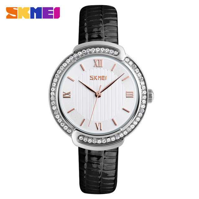 Jam Tangan Wanita SKMEI Casual Ladies Leather Strap Original 9143 Hitam