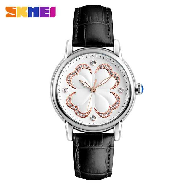 Jam Tangan Wanita SKMEI Casual Ladies Leather Strap Original 9159