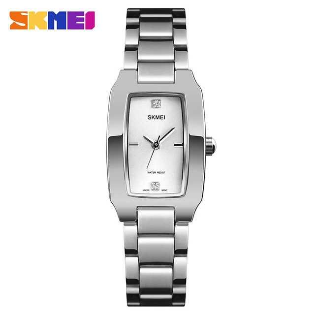 Jam Tangan Wanita Stainless Original SKMEI 1400CS Silver