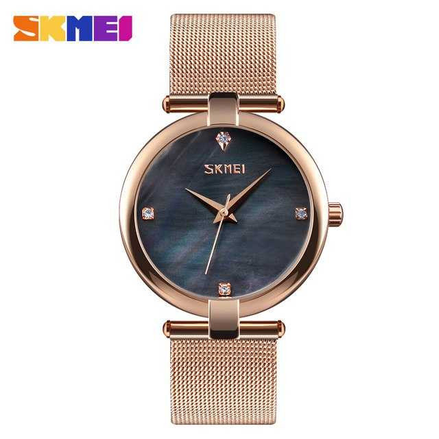 Jam Tangan Wanita SKMEI Casual Ladies Stainless Strap Original 9177CS