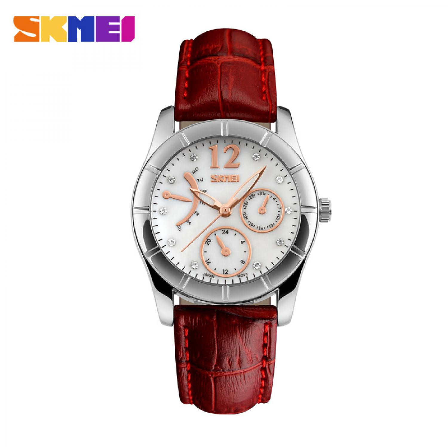 Jam Tangan Wanita SKMEI Casual Women Leather Strap Original 6911CL
