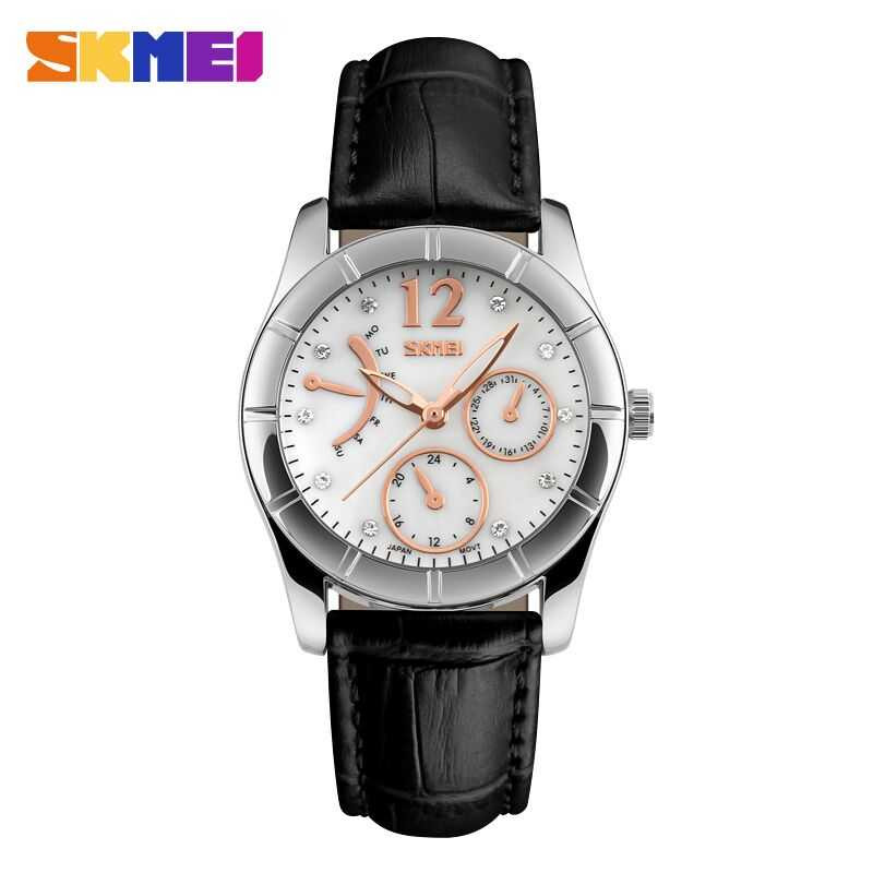 Jam Tangan Wanita SKMEI Casual Women Leather Strap Original 6911CL Hitam