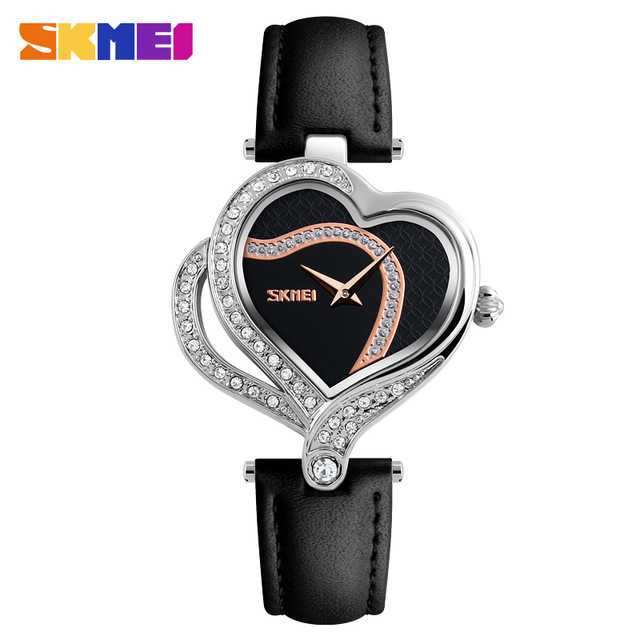 Jam Tangan Wanita SKMEI Casual Women Leather Strap Original 9161CL
