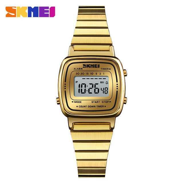 Jam Tangan Wanita SKMEI Digital Casio Sport Original 1252 Gold