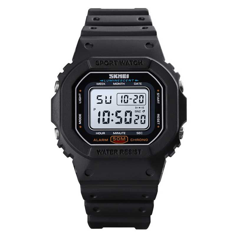 Jam Tangan Wanita SKMEI Digital Casual Sport LED Original DG1608
