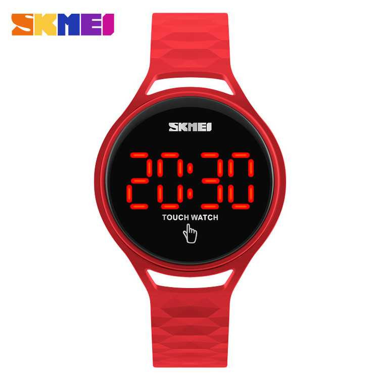 Jam Tangan Wanita SKMEI Digital Sport LED Touch Original 1230A Merah