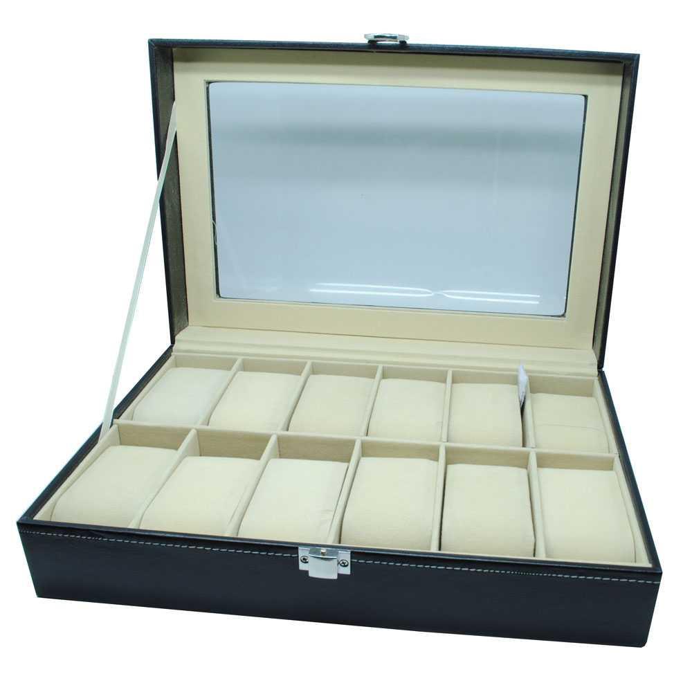 Kotak Jam Tangan Mewah 12 Slot